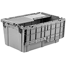 STORAGE BOX, HINGED LID, STACKABLE, POLYPROPYLENE