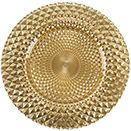 GLASS CHARGER PLATE, KENTON MIRRORED DESIGN, GOLD, SET/4