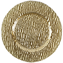 GLASS CHARGER PLATE, FRANKFORD MIRRORED DESIGN, GOLD COLOR, SET/4