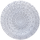 GLASS CHARGER PLATE, SILVER LUXURY DESIGN