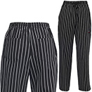 CHEF PANTS, UNIVERSAL FIT, CHALKSTRIPE
