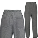 CHEF PANTS, UNIVERSAL FIT, HOUNDSTOOTH