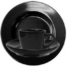CANCUN DINNERWARE, BLACK