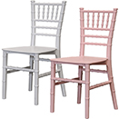 CHIAVARI CHAIRS FOR CHILDREN, PINK OR WHITE, RESIN
