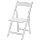FOLDING CHAIR WITH HARDWOOD FRAME FOR CHILDREN, WHITE