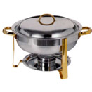 4 QT. ROUND CHAFER, TWO TONE - 4 QT. CHAFER (COMPLETE)