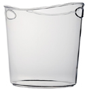 1 GALLON CLEAR OVAL ICE BUCKET, 6 EACH