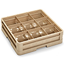 9 SQUARE COMPARTMENT CLOSED WALL RACK WITH 1 EXTENDER, BEIGE