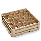 20 COMPARTMENT CLOSED WALL CUP RACK WITH 1 EXTENDER, BEIGE