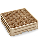 30 HEXAGON COMPARTMENT CLOSED WALL RACK WITH 1 EXTENDER, BEIGE
