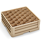 30 HEXAGON COMPARTMENT CLOSED WALL RACK WITH 2 EXT, BEIGE