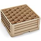 30 HEXAGON COMPARTMENT CLOSED WALL RACK WITH 3 EXTENDERS, BEIGE