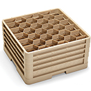 30 HEXAGON COMPARTMENT CLOSED WALL  RACK WITH 4 EXTENDERS, BEIGE