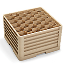 30 HEXAGON COMPARTMENT CLOSED WALL RACK WITH 5 EXTENDERS, BEIGE