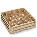12 HEXAGON COMPARTMENT CLOSED WALL  RACK WITH 1 EXTENDER, BEIGE