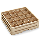 16 SQUARE COMPARTMENT CLOSED WALL CUP RACK WITH 1 EXTENDER, BEIGE