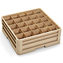 25 SQUARE COMPARTMENT CLOSED WALL RACK WITH 2 EXTENDERS, BEIGE