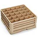 25 SQUARE COMPARTMENT CLOSED WALL RACK WITH 3 EXTENDERS, BEIGE