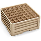 49 SQUARE COMPARTMENT CLOSED WALL RACK WITH 3 EXTENDERS, BEIGE