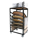 DOLLY CARTS FOR COCKTAIL TABLE, BLACK