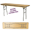 CONFERENCE WOOD FOLDING TABLES
