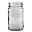 16 OZ COUNTRY MASON JAR, CASE OF 1 DOZEN