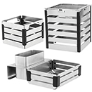 DISPLAY CRATE RISER, 18/10 STAINLESS
