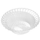 DINNERWARE, SCALLOPED EDGE, CLEAR, DISPOSABLE PLASTIC - 5 OZ DESSERT BOWL, SCALLOPED EDGE, CLEAR, CASE OF 180