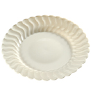 SCALLOPED EDGE DISPOSABLE PLATES & BOWLS, BONE