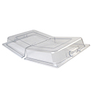 DOME COVER, FULL SIZE, HINGED LID, POLYCARBONATE