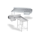 DISHTABLE PACKAGE W/GALVANIZED LEGS, 72