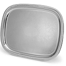 ELEGANT REFLECTION OBLONG TRAY WITH GADROON EDGE, 18/8 STAINLESS