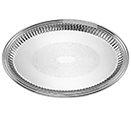 ESQUIRE™ TRAYS, EMBOSSED CENTER, 18/8 STAINLESS - 10 7/8