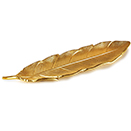FEATHER TRAY, GOLD ALUMINUM