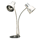 FLEXIGLOW™ DUAL ARM ALUMINUM HEAT LAMP, 24