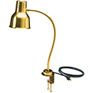 FLEXIGLOW™ SINGLE ARM ALUMINUM HEAT LAMP WITH GOLD FINISH & CLAMP,  24