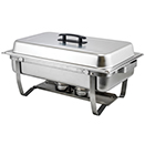 FOLDING STAND CHAFER, LIFT OFF LID, STAINLESS STEEL