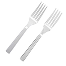 SERVING FORK, CLEAR OR WHITE, DISPOSABLE PLASTIC