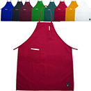 FULL LENGTH BIB APRONS WITH POCKETS, COTTON/POLY BLEND