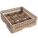9 SQUARE COMPARTMENT BASE RACK WITH 1 OPEN EXTENDER, BEIGE