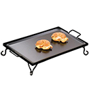 WROUGHT IRON GRIDDLE  WITH STAND, FULL SIZE - FULL SIZE GRIDDLE WITH STAND, 27