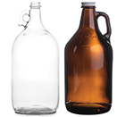 HALF GALLON, 64 OZ,  GLASS GROWLERS