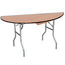 HALF ROUND FOLDING TABLES, PLYWOOD TOP