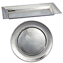 HAMMERED TRAYS, STAINLESS - 14