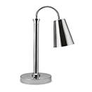 SINGLE HEAT LAMP WITH CHROME SHADE, 23