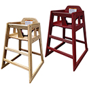 HIGH CHAIRS, KNOCKED DOWN, RUBBERWOOD