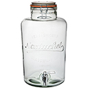 5 QT INFUSION JAR WITH CLAMP TOP LID