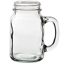 16 OZ HANDLED MASON JAR, CASE OF 1 DOZEN