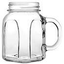 15 OZ SQUARE HANDLED MASON JAR, CASE OF 1 DOZEN