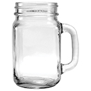 20 OZ MASON JAR W/HANDLE, 5 3/4